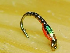 HOLOGRAPHIC GREEN JC EPOXY TROUT BUZZER #12