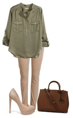 """""""Church"""" by truedirectioner-belieber ❤ liked on Polyvore featuring ONLY, H&M, Steve Madden and Michael Kors"""