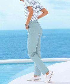 Women/'s Vintage RALPF LAUREN High Waist Zip Fly Sky Blue 100/% Cotton Pants Chinos Size UK16 L30