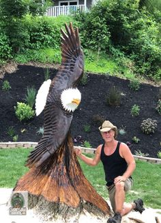 Chainsaw Carving by Paul is a professional chainsaw carver in the York PA area. Chainsaw Wood Carving, Wood Carving Art, Wood Art, Wood Carvings, Sand Sculptures, Tree Sculpture, Abstract Sculpture, Bronze Sculpture, Transfer Images To Wood