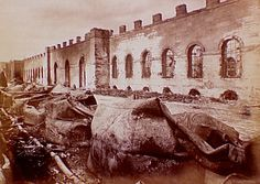 Grenier d'Abondance, after destruction, exterior view., Siege of Paris, Special Collections, Northwestern University Library