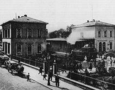 Der Offenbacher Lokalbahnhof um 1900.                                                                                                                                                                                 More