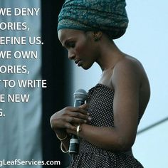 When we deny our stories, they define us. When we own our stories, we get to write a brave new ending. #OwnYourStory