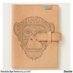 Shop Mandala Ape Pattern Journal created by Personalize it with photos & text or purchase as is! Tooled Leather, Leather Tooling, Cow Leather, Moleskine Notebook, Journal Notebook, Leather Travel Journal, Utility Tote, Leather Keychain, Worlds Of Fun