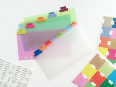 Colorful Divider Kit - Filofax // Kikki K // Websters Pages Planner Kit by PapergeekMY on Etsy