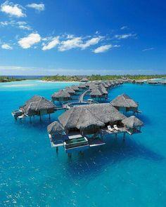 The Four Seasons Bora Bora. Beautiful #resort for ur #honeymoon.