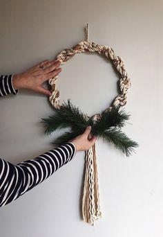 Macrame christmas wreath! #art #arttextile #beige #or #christmasdecor #christmaswreath #macrame