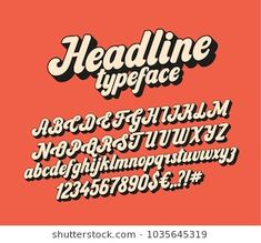 Find Handwritten Lettering Headline Font Vector Script stock images in HD and millions of other royalty-free stock photos, illustrations and vectors in the Shutterstock collection. Script Typeface, Hand Lettering Fonts, Handwritten Letters, Lettering Tutorial, Calligraphy Fonts, Typography Letters, Cursive Fonts, Font Design, Lettering Design