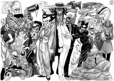 Batman Villains Line-up 1 by Adoradora.deviantart.com