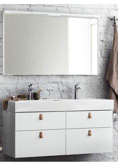 Svedbergs Forma 121 cm Hvit Double Vanity, Bathroom, Washroom, Full Bath, Bath, Bathrooms, Double Sink Vanity