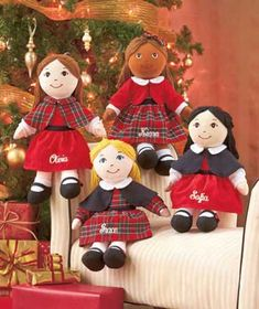 NEW! Make her Christmas memorable with this Personalized Holiday Rag Doll. She'll love playing with this adorable rag doll, which can have any name up to 12 cha