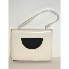 White & Black Leather Handbag By Nicholas Reich