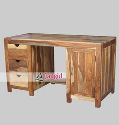 This is Wooden Writing Table made from Sheesahm Wood. There is many Solid Indian Wooden Furniture such as Solid Indian Wooden Almirah, Solid Indian Wooden Double Bed, Solid Indian Wooden Sideboards, Solid Indian Wooden Cabinets, Solid Indian Wooden Drawer Chest, Solid Indian Wooden TV Cabinet, Solid Indian Wooden Wardrobes, Solid Indian Wooden Trunk Chest, Solid Indian Wooden Night Stand, Solid Indian Wooden Bedside Table and so on. http://www.jangidart.co.in/