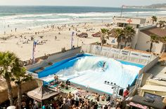 Imagine the thrill of a real surfing experience — without having to go to the ocean.Hop on your surf board and head out to a wave pool for the. Surf Pool, Wave Pool, Mission Beach San Diego, Beach Entry Pool, Sea Photography, Dream House Exterior, Beach Pictures, Beach Fun, Vacation Destinations