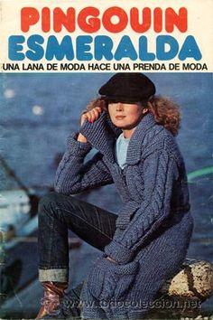 Revista *PINGOUIN ESMERALDA · Ropa de Punto. Labores* Vintage - 32 páginas-17 modelos - Año 1976