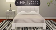 Chicago Bed Frame at Onyx Sims • Sims 4 Updates
