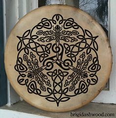 Celtic Dragonfly Bodhran Drum  Hand painted by BrightArrow on Etsy, $250.00