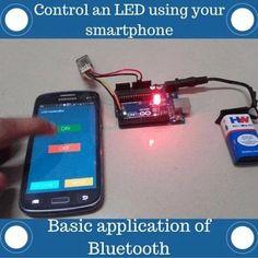 Arduino Bluetooth, Arduino Led, Arduino Programming, Car Bluetooth, Wireless Speakers, Hobby Electronics, Electronics Gadgets, Electronics Projects, Led Projects