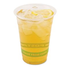 Eco-Products 16oz Compostable Cold Clear Corn Plastic Cups 1000ct