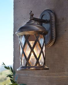 Choosing garage lighting ideas whether interior or exterior can be tricky in a garage & Beacon Lighting - Villa 1 light medium exterior wall bracket in ... azcodes.com