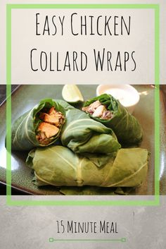 These collard wraps are quick and easy to make, and are ready in about 15 minutes! Collard wraps are a healthier option than traditional tortilla wraps and taste amazing. They are gluten free, dairy free and versatile. Great quick meal idea!