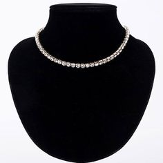 50% OFF  Just a few of these stunning rhinestone chokers left.  Available colors in silver, black and gold. https://nightoutnecklaces.com/products/rhinestone-choker-necklaces?variant=33716582532 These have been selling like crazy, get yours today while they're on sale! #dresses #necklaces #womenbag #bag #blouses #dailysale #sale
