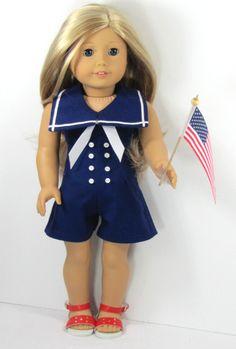 Patriotic Romper for American Girl Doll®