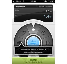 Another interesting dial | Convertbot iPhone App Design Inspiration
