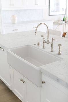 Countertop Is U201cStatuarietto Marbleu201d With A Honed Finish. Faucet: Rohl  Perrin And. Marble CountertopsHoned MarbleFarmhouse SinksWhite ...
