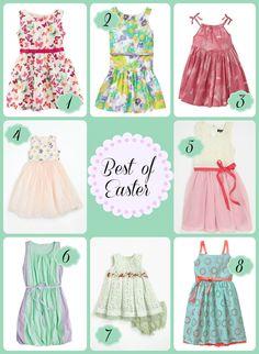 Spring Easter Dresses @Hopscotch Sketchpad #Easter #dresses #kidfashion