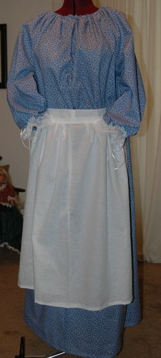 Little House on the Prairie Dress Set Civil War Ladies CUSTOM You choose size, height and fabric. $45.00, via Etsy.