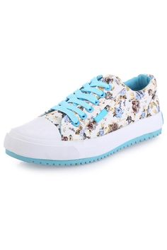 Casual Textured Floral Sneakers