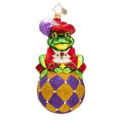 Christopher Radko Ornaments 2015   Radko Frog Christmas Ornament Prince Ribbit
