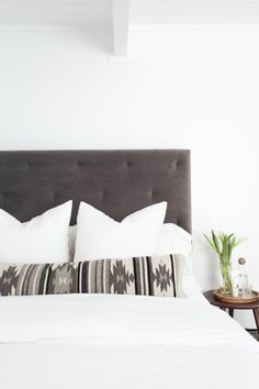 Say hello to my new favorite pillow! Handcrafted in Oaxaca, Mexico, this long lumbar pillow features bold, Zapotec tribal patterns in modern black…