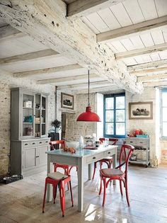 Cocinas con office actuales y con estilo #cocinasrusticasladrillo