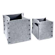 Mellow Felt Storage Baskets Set Of 2 - Grey