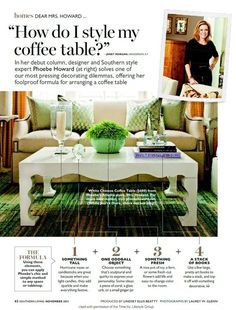 IO METROs tips for decorating a coffee table
