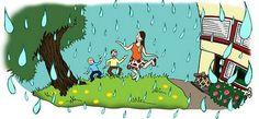 Muistatteko kesällä, kun.. ..haettiin pyykki kotiin varhain eräänä lämpimänä aamuna ja sade yllätti. Tanssimme ulkona sadetanssin lämpimässä sateessa.