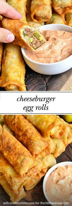 It doesn't get much better than this Cheeseburger Egg Rolls recipe! Full of cheesy goodness, the classic sandwich is transformed into an amazing appetizer that's perfect for game-day tailgates.