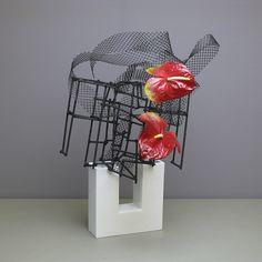 Heather's | Gordon | Flickr Ikebana Arrangements, Floral Arrangements, Flower Show, My Flower, Flower Art, Art Floral, Floral Design, Ikebana Sogetsu, Japanese Flowers