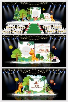 Flat Mori Cartoon Baby Birthday Banquet Stage#pikbest#decors-models Old Man Birthday, Red Birthday Party, Baby Birthday Themes, Princess Theme Birthday, Birthday Cartoon, Retro Birthday, Baby Cartoon, Birthday Party Decorations, Wedding Stage Design