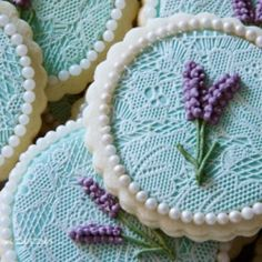 Cute lace cookies for a wedding Lace Cookies, Flower Cookies, Easter Cookies, Royal Icing Cookies, Fun Cookies, Holiday Cookies, Cupcake Cookies, Sugar Cookies, Decorated Cookies
