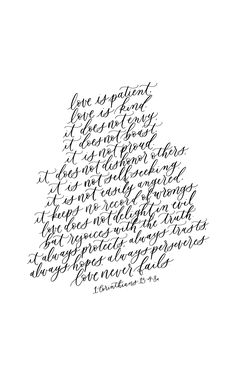 1 Corinthians 13, calligraphy quote, handlettering bible verse