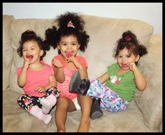 I just had to share this joyful photo of my friend's children. The Jones gals! -Curly Therapy #CurlyHair #HealthyHair #NaturalHair #noperm #norelaxer #noheat #heatfree #power #selfesteem #love #curlpower #curlyCommunity #curlyfamily #curlybabies #curlywomen  #curlykids #protectivestyle #bighair #afro #fro #hnl26 #curlbox #protectivestyle   #CurlyTherapy