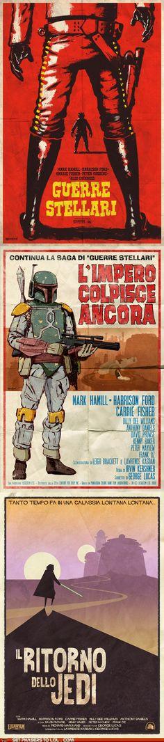Star Wars Trilogy as Spaghetti Westerns
