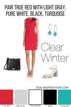 How to Wear Red if You're a Clear Winter