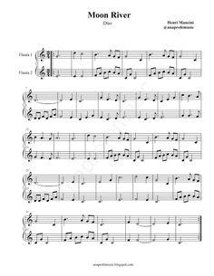 Easy Sheet Music, Violin Sheet Music, Piano Music, Moon River, Music Notebook, Piano Songs, Recorder Music, Music Online, Teaching Music