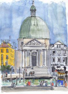Venise : en face de la gare de Santa Lucia
