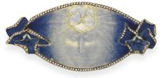 A hauntingly beautiful Lalique brooch entitled 'La Pensee' or 'The Thought'.