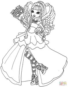 Ever After High C Cupid Thronecoming Coloring Page From Category Select 30459 Printable Crafts Of Cartoons Nature Animals